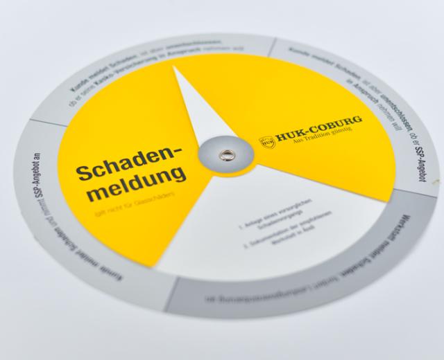 Printprodukt - Drehscheibe von HUK Coburg